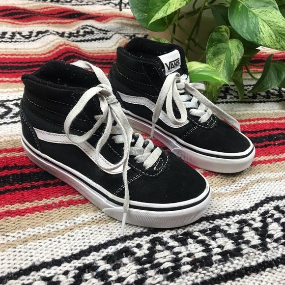 7e2e865060 Vans Sk8 Hi Kids Black shoes Sz. 12 Youth